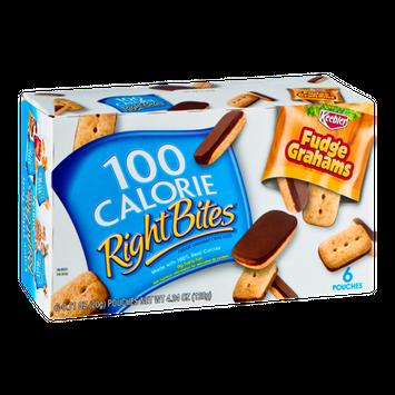 100 Calorie Right Bites Fudge Grahams Crackers - 6 CT