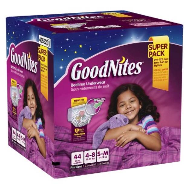 GoodNites® Bedtime Pants for Girls S/M