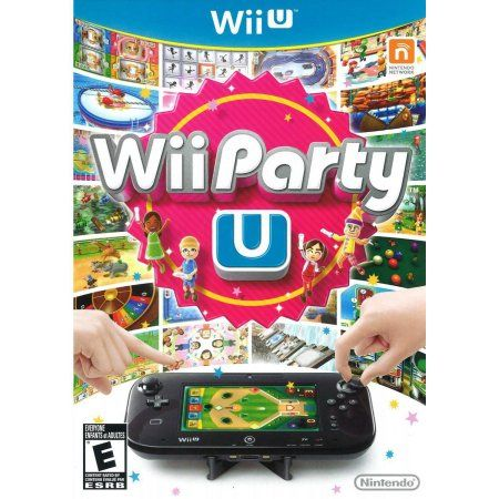 Nintendo Wii Party U w/Black Wii Remote Plus and Stand