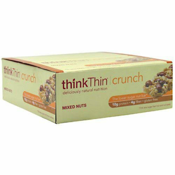 Think Products Thin Crunch Bar Mixed Nuts Case of 10 1.41 oz