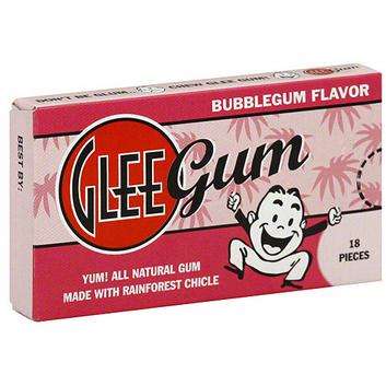 Glee Gum Bubblegum Flavored Gum