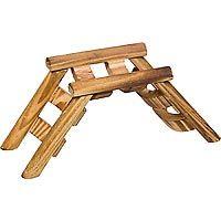 "Planet Petco Wood Ladder Bridge Small Animal Chew Toy (7"" L X 3"" W X 3.25"" H)"