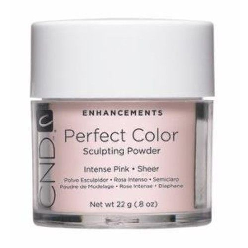 Cnd Cosmetics Creative Nail Perfect Color Powder False Nails, Intense Pink, 0.8 Ounce
