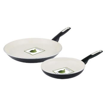 Green Pan GreenPan Rio 2 Piece Aluminum Breakfast Pan Set - Black
