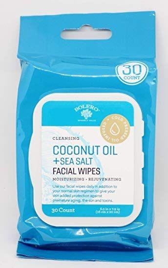 Bolero Beverly Hills Coconut Oil + Sea Salt Facial Wipes