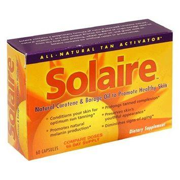 Solaire Natural Carotene & Borage Oil, to Promote Healthy Skin, 60 capsules