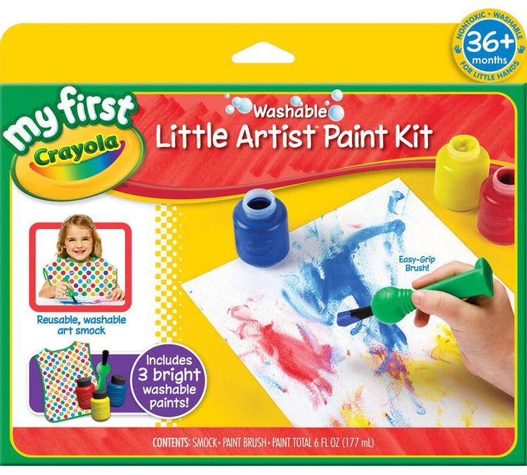 Crayola My First Washable Little Artist Paint Kit