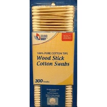 Sound Body Wood Stick Cotton Swabs 300 Count