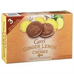 Carr's Cookies, Ginger Lemon Creme, 7.5 oz, 3 pk