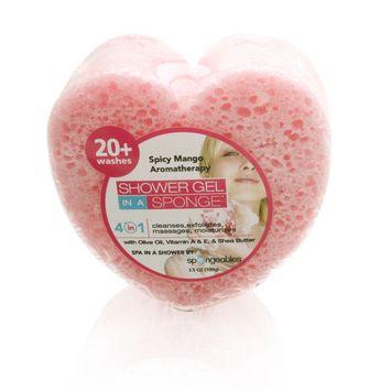 Spongeables Shower Gel in a Sponge (Pink Heart) 20+ Uses