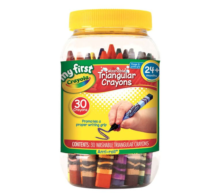 Crayola My First Washable Triangular Crayons