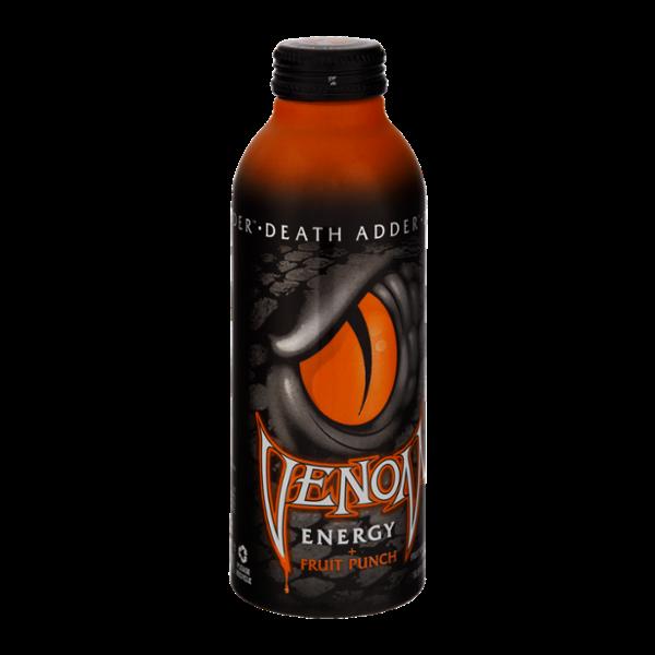 Venom Death Adder Fruit Punch Flavored Energy Drink