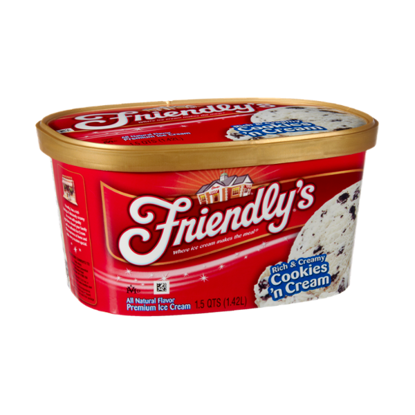 Friendly's Rich & Creamy Cookies 'n Cream Premium Ice Cream