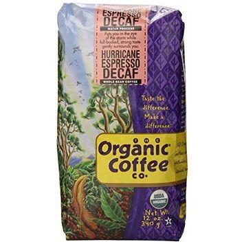 The Organic Coffee Company The Organic Coffee Co. Whole Bean, Decaf Hurricane Espresso, 12 Ounce