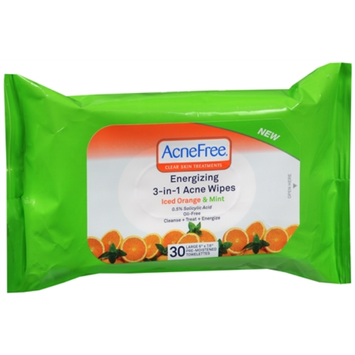 University Medical AcneFree Energizing 3-in-1 Acne Wipes Iced Orange + Mint