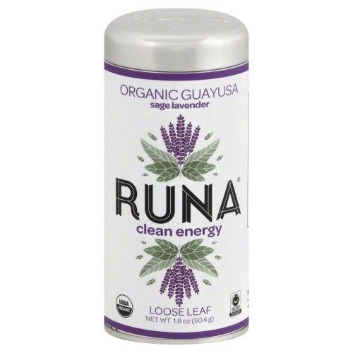Runa Organic Guayusa Loose Leaf Tea Sage Lavendar 2.5 oz