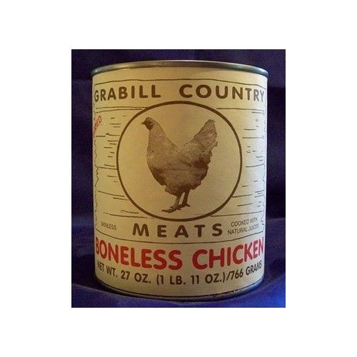 Grabill Country Meats Grabill Canned Boneless Chicken Chunks - 27-oz