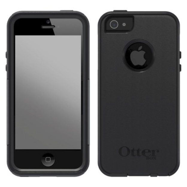 Otterbox Commuter Cell Phone Case for iPhone 5/5s - Black (41943TGR)