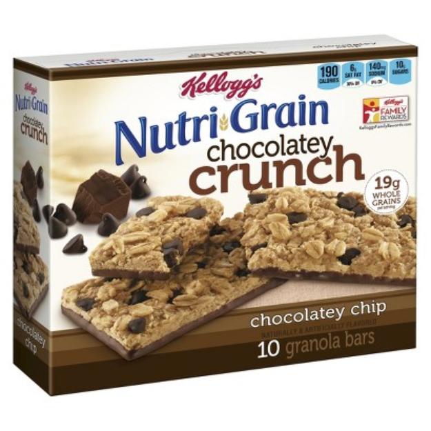 Kellogg's® Nutri-Grain® Chocolatey Crunch Chocolatey Chip Granola Bars