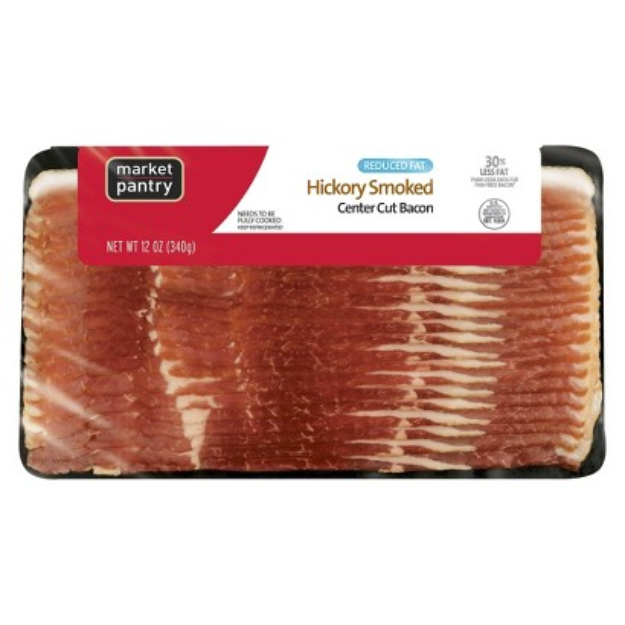 market pantry Market Pantry Reduced Fat Hickory Smoked Center Cut Bacon 12 oz