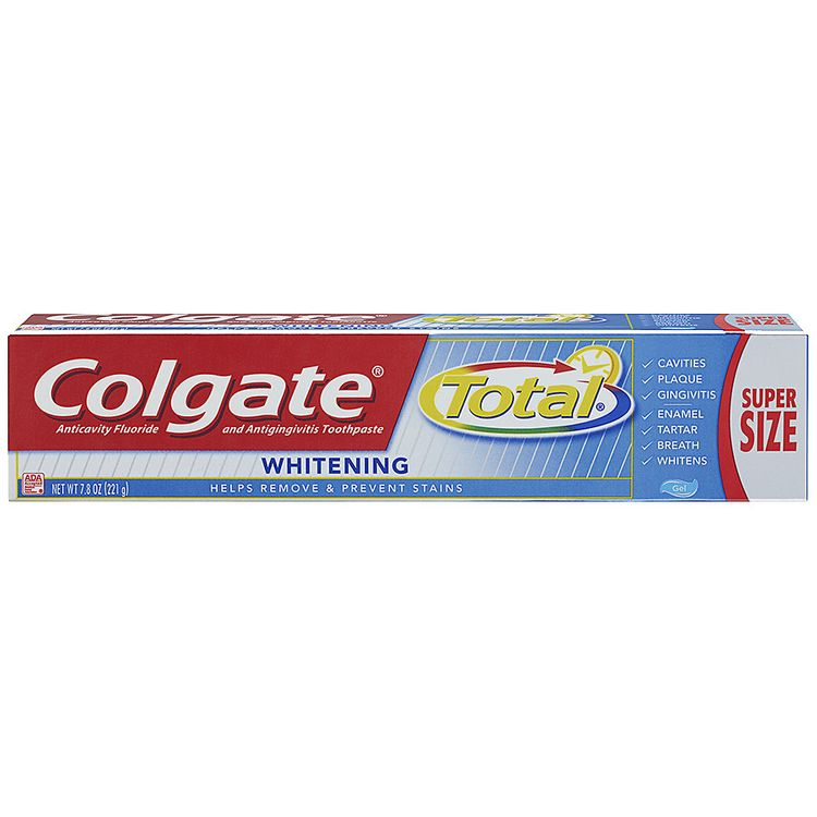 Colgate Total Whitening Anticavity Fluoride and Antigingivitis Toothpaste Gel