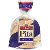 Toufayan White Pita Bread, 6 count