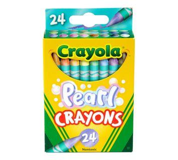 Crayola Pearl Crayons, 24 Count