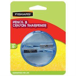 Fiskars 12-95854B Pencil & Crayon Sharpener, Blue
