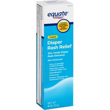 Wal-mart Stores, Inc. Equate Creamy Diaper Rash Relief Zinc Oxide Ointment, 4 oz