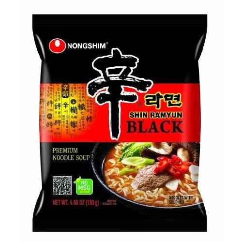 Nong Shim Nongshim Shin Ramyun Black Noodle Soup, 4.58 Ounce (Pack of 24)