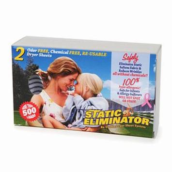 Static Eliminator Re-Usable Dryer Sheet System