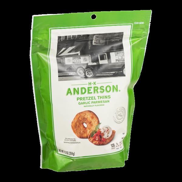 HK Anderson Pretzel Thins Garlic Parmesan