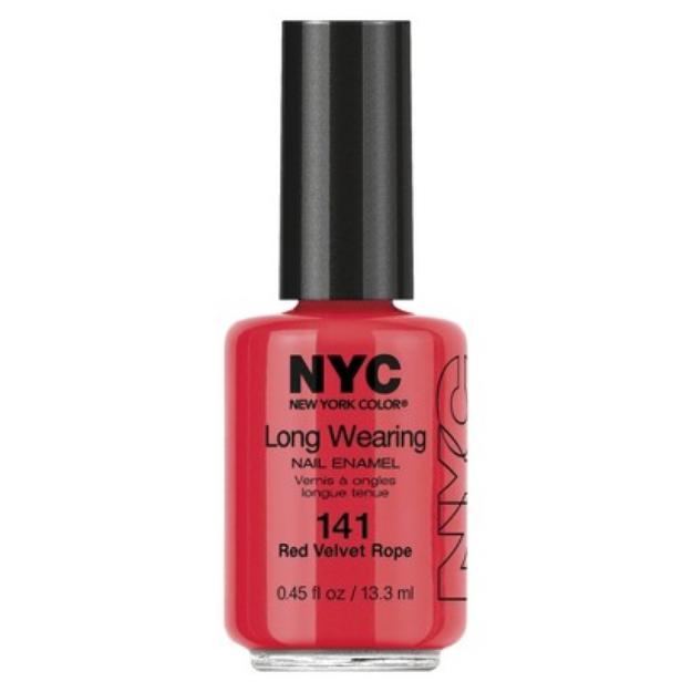(3 Pack) NYC Long Wearing Nail Enamel - Red Velvet Rope