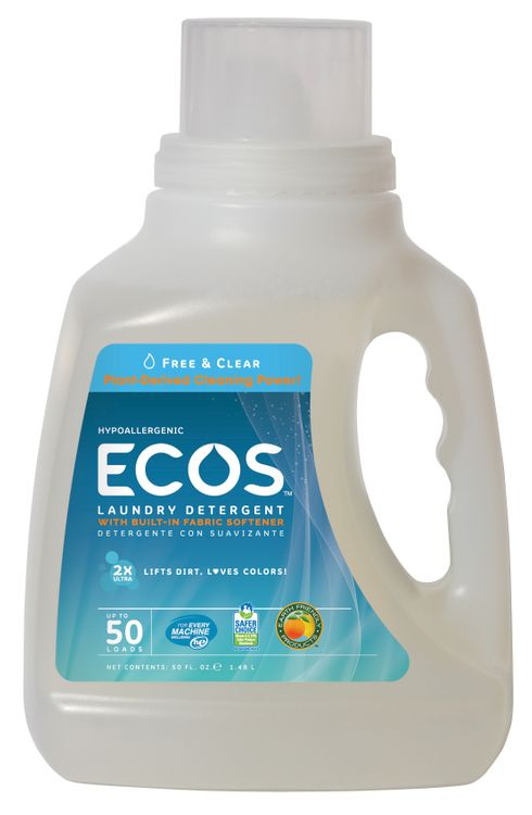 Earth Friendly Products Ultra ECOS Free & Clear Laundry Detergent 2X