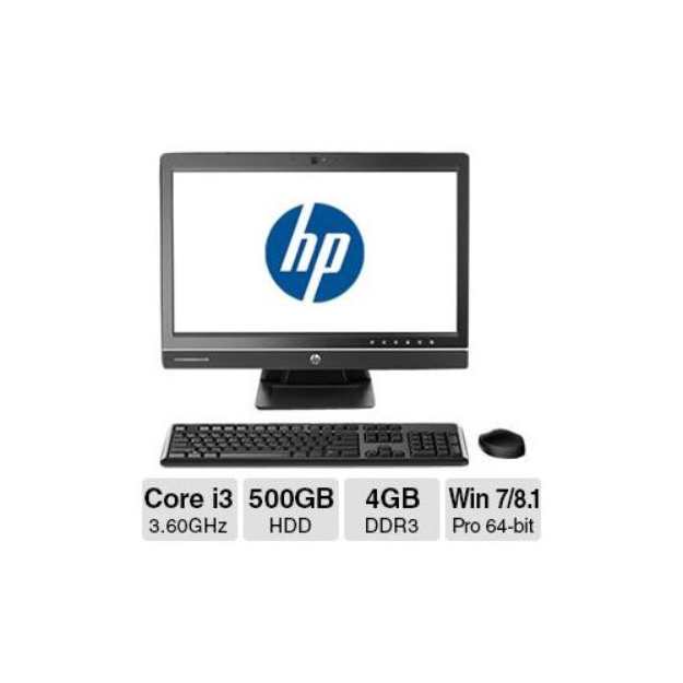 "HP ProOne 600 G1 All-In-One PC - Intel Core i3-4160 3.60GHz, 4GB DDR3 Memory, 500GB HDD, DVDRW, 21.5"" Display, Windows 7"