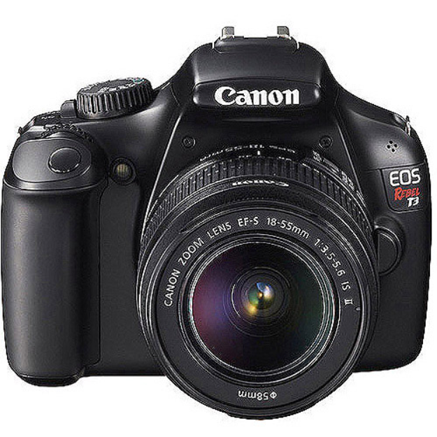 Canon EOS Rebel T3 12.2MP Digital SLR Camera with 18-55IS Lens - Black