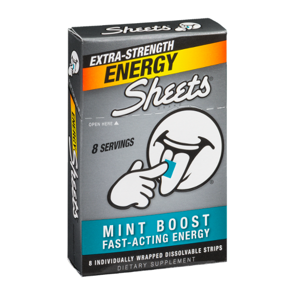 Sheets Energy Extra-Strength Mint Boost - 8 CT