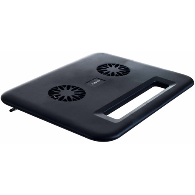 Kinyo Compact Laptop Cooling Pad with Dual USB Fans