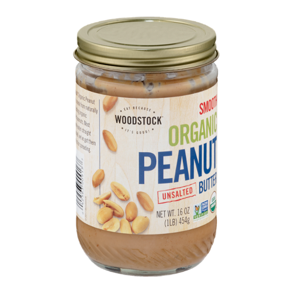 Woodstock Smooth Organic Peanut Butter Unsalted