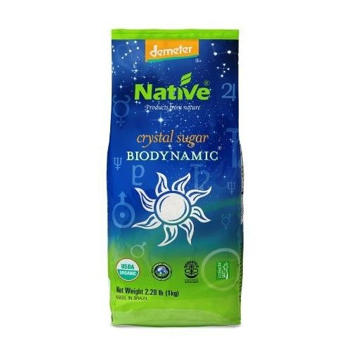 Native USA Demeter Biodynamic Crystal Cane Sugar, 2.2 Pound Bags (Pack of 4)