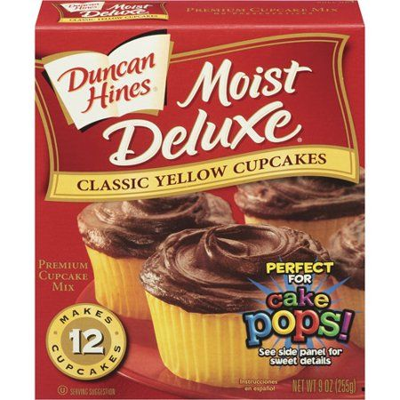 Duncan Hines® Moist Deluxe Classic Yellow Cupcake Mix