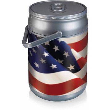 Picnic Time Can Cooler - American Flag Can