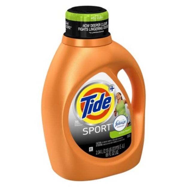 Tide Sport Febreze Active Fresh Scent Liquid Laundry Detergent