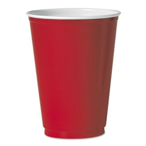 Solo Cup Company M22RCT Party Plastic Cold Drink Cups 12 Oz Red 50/pack