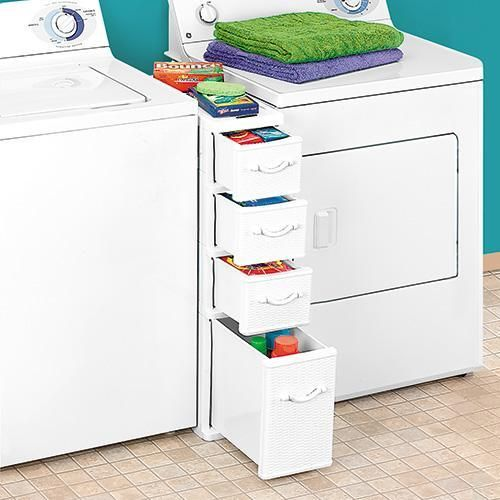 Taylor Gifts Wicker Between Washer Dryer Drawers