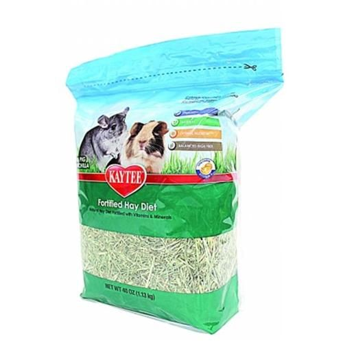 Kaytee Fortified Hay Diet for Guinea Pigs & Chinchillas, 40 oz.