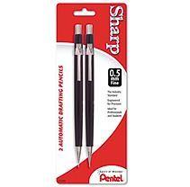 Pentel Mechanical Pencils Sharp Automatic Pencil, 0.50mm, 2/Pack