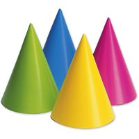 Creative Expressions Assorted Neon Party Hats - 8 Count Multi