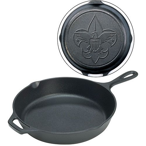 Boy Scouts of America Engraved Cast Iron Cookware by Lodge Logic - 12 Skillet