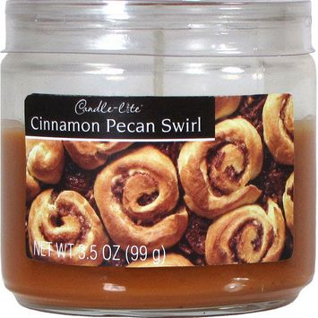 Candle lite 10 Oz Cinnamon Pecan Scented Jar Candle
